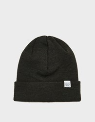 Norse Projects Top Beanie In Beech Green