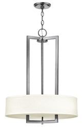 Hinkley Hampton Large 3 Light Pendant 3203 Small 20 In Dia An Antique Nickel Incandescent Silver