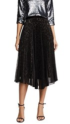 Loyd Ford Two Layer Pleated Skirt Black