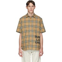 Burberry Beige Vintage Check Oversized Sandor Shirt