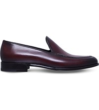 Stemar Hand Painted Leather Loafers Wine
