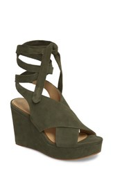 Etienne Aigner Dominica Platform Wedge Sandal Fatigue Suede