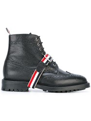 Thom Browne Pebbled Boots Black