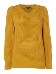Therapy Arlo Crossover V Fisherman Jumper Mustard