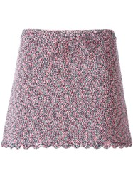 Chanel Vintage Knit Mini Skirt Pink And Purple