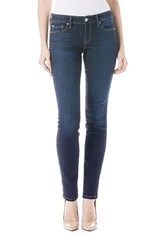 Level 99 Women's Lisa Stretch Distressed Super Skinny Jeans Ocean View