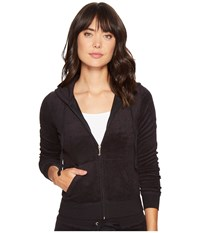 Juicy Couture Robertson Microterry Jacket Pitch Black Women's Coat