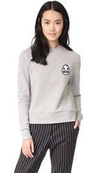 Etre Cecile Starry Eye Badge Sweatshirt Grey Marle