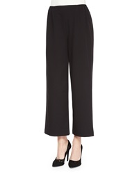 Caroline Rose Travel Gabardine Ankle Pants Black