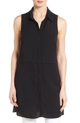 Women's Bobeau Sleeveless Tunic Shirt Black