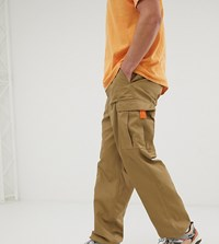 Reclaimed Vintage Revived Cargo Trouser In Stone