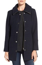 Jessica Simpson Women's Basket Weave Fit And Flare Coat