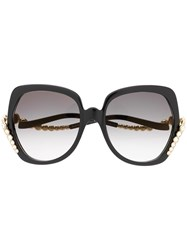 Elie Saab Crystal Embellished Sunglasses Black