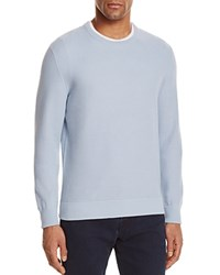 Bloomingdale's The Men's Store At Birdseye Cotton Sweater Blue Fog