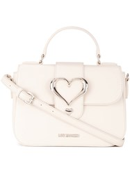 Love Moschino Buckle Satchel White