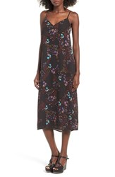 Fire Women's Midi Slipdress Black Floral