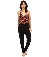 Mara Hoffman Peacefield Jumpsuit Black Coral Women's Jumpsuit And Rompers One Piece