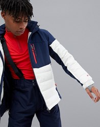 Protest Mount 18 Puffer Snow Jacket In White Blue