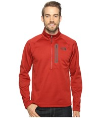 The North Face Canyonlands 1 2 Zip Cardinal Red Heather Men's Long Sleeve Pullover