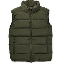 Aspesi Down Filled Quilted Gilet Green