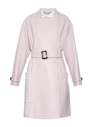 Burberry Belted Wrap Front Wool Coat