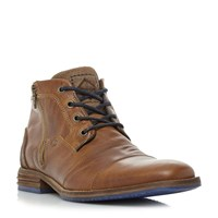 Dune Captains Double Lace Up Boots Tan