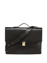 Paul Smith Concertina Leather Messenger Bag Black