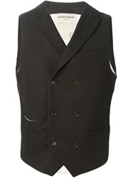Al Duca D Aosta 1902 Double Breasted Waistcoat Brown