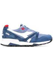 Diadora Chunky Sole Lace Up Sneakers Men Leather Nylon 10.5 Blue