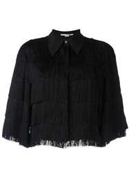 Stella Mccartney Cropped Fringe Shirt Black