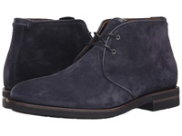 Aquatalia By Marvin K Carlos Navy Oiled Waxy Suede Men's Lace Up Boots