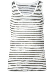 Majestic Filatures Striped Tank Green
