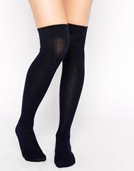 Gipsy Navy Over The Knee Socks