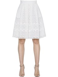 Ermanno Scervino Lace And Macrame Pleated Skirt