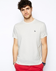 Jack Wills Sandleford T Shirt With Pheasant Logo White