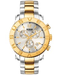 Versus By Versace Men's Chronograph Madison Two Tone Ion Plated Stainless Steel Bracelet Watch 42Mm Soh010015 No Color