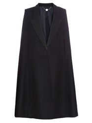 Stella Mccartney Becker Oversized Tuxedo Cape Black