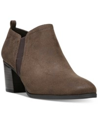Franco Sarto Barrett Ankle Booties Women's Shoes Dark Brown