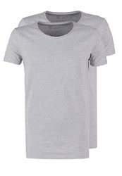 Petrol Industries 2 Pack Slim Fit Basic Tshirt Grey
