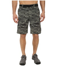 Columbia Silver Ridge Printed Cargo Short Gravel Camo Print Men's Shorts Gray