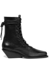Ann Demeulemeester Leather Ankle Boots Black
