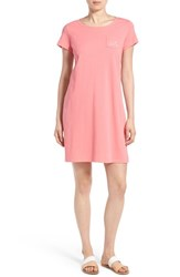 Women's Vineyard Vines Cotton T Shirt Dress Sunset Pink