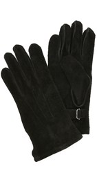 Our Legacy Leather Gloves Black