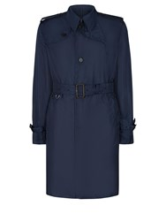Aquascutum London Voyager Pack Away Mac Navy