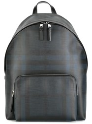 Burberry Checked Backpack Blue