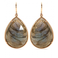 Irene Neuwirth 18Kt Rose Gold Earrings With Rose Cut Labradorite