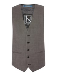 New And Lingwood Horsham Check Suit Waistcoat Grey