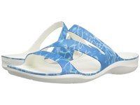 Crocs Swiftwater Graphic Sandal Water White Women's Sandals Blue
