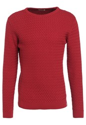 Knowledge Cotton Apparel Jumper Pompeain Red