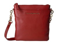 Tommy Hilfiger Eloise Pebble Leather Crossbody Red Cross Body Handbags